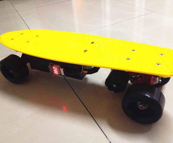 DIY small electric skatebaord single motor drive