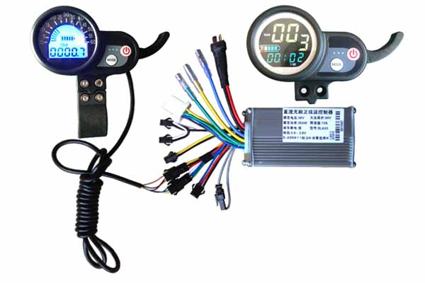 thumb throttle LCD display
