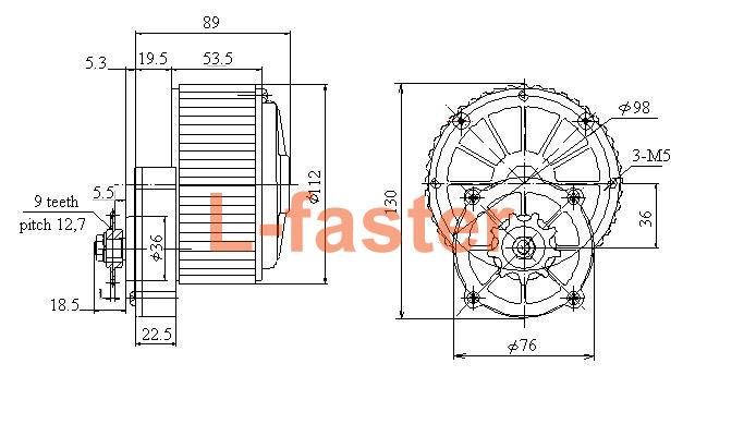 450w Electric Bike Side Drive Motor Kit L Faster Com