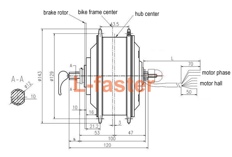 250w electric bike front motor wheel kit  quick release