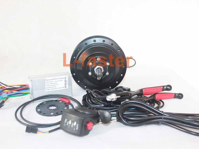 250w electric bike rear motor wheel kit for 135mm fork for Electric bike rear hub motor
