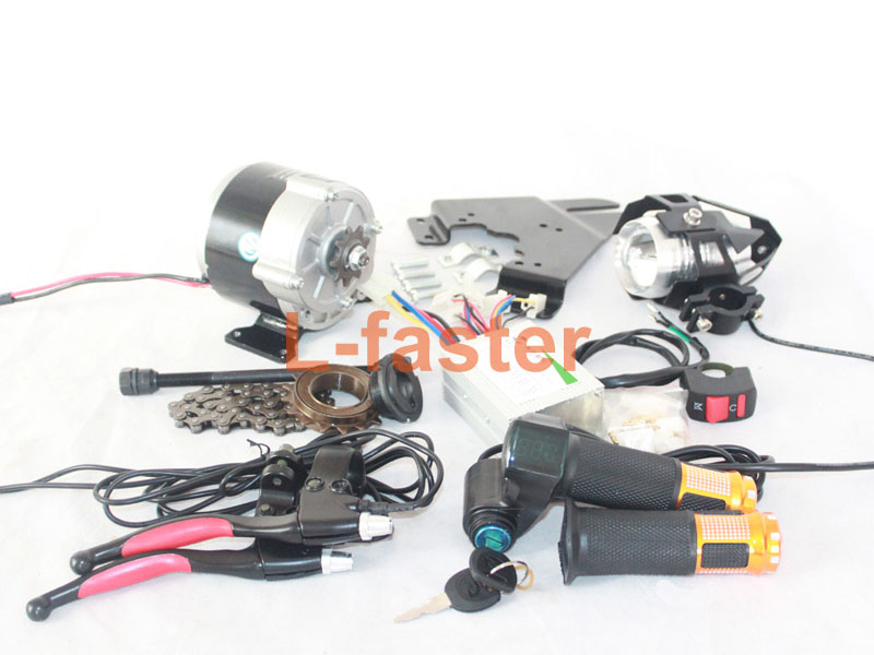 Upgrade) 350W Electric Bicycle Side-Drive Motor Kit | L-faster com