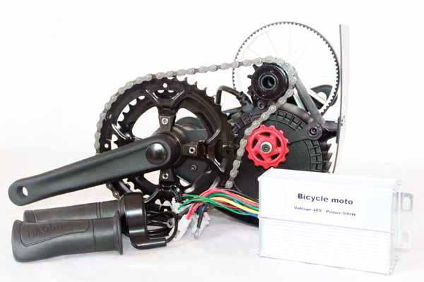 500W / 650W Electric Bike Mid-drive Brushless Motor Kit (Chain Drive)