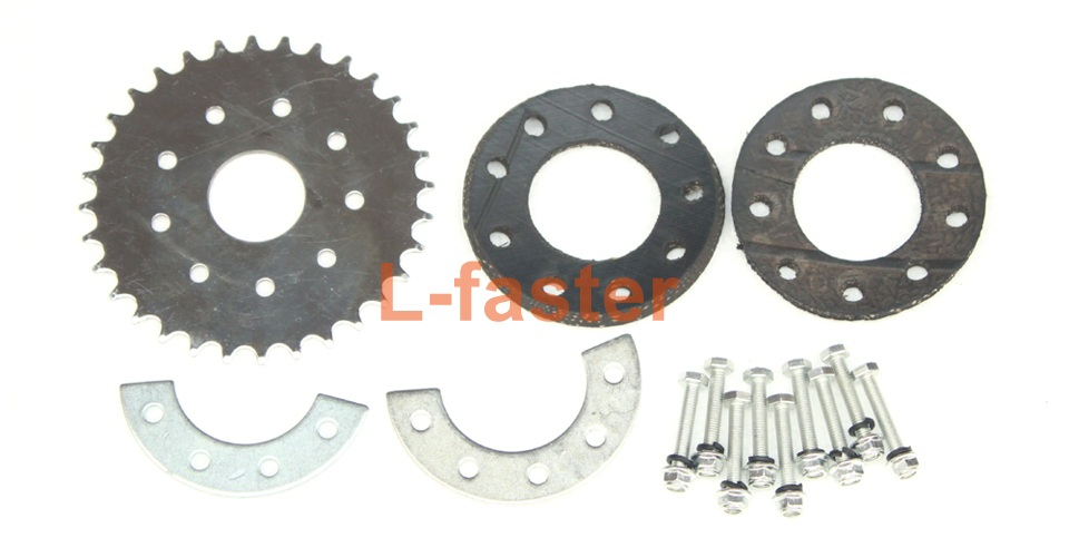 350w electric common bike motor kit side drive l for Freewheel sprocket for electric motor